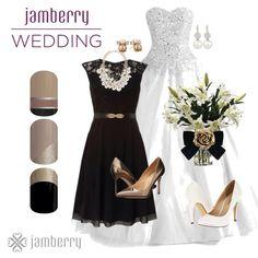 -Date Night -Champagne Toast  -Little Black Dress http://marissamiller.jamberrynails.net/shop