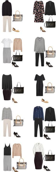 Basic Work Capsule Outfits 11-20 #capsulewardrobe #workwardrobe #workwear…