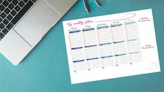 This is a weekly planner connects you with your works and schedules Even if I use a daily planner, I always want a weekly planner to plan even better. Dimension is , perfect for your office and planning Height: 297 Millimeters;