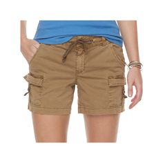 Women's SONOMA Goods for Life™ D-Ring Utility Shorts, Size: 10, Med Brown