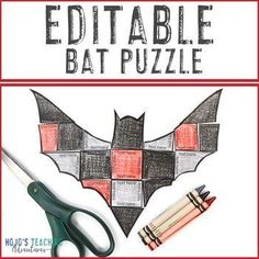 EDITABLE Bat Activity or Nocturnal Animals Game for ANY Topic (Create your own!) |  1st, 2nd, 3rd, 4th, 5th, 7th grade, 8th, Activities, English Language Arts, Fun Stuff, Games, Halloween, Homeschool, Math, Middle School