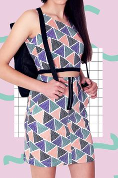 TRIANGLES TOP by PLASTICBONESSTORE on Etsy