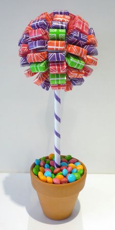 Starburst and Skittles Sweet or Candy Tree