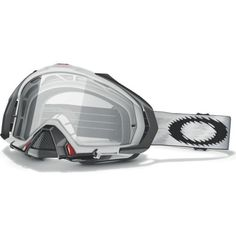 Oakley Mayhem MX Goggles with Clear Lens (White, One Size) Motocross Goggles, Motosport, Search And Rescue, Dirtbikes, Dirt Track, Biker Style, Travel Tote, Winter Travel, Atv