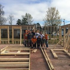 Another shot of students working on their Habitat for Humanity project during the 2014 Alternative Spring Break trip