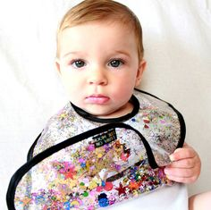 Rainbow Glitter and Sequin Kaleidoscope Baby by LunaontheMoon