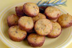 gluten free lemon rosemary mini-muffins