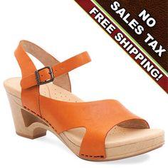Dansko Tasha Tangerine Orange Sandal