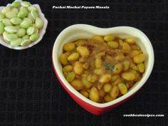 Pachai Mochai Payaru Masala, is a famous dish in south india.Mochai masala/stir fry/kulambu/kurma is common in south india.It goes well with rice varieties. Chana Masala, Stir Fry, Fries, Good Food, Dishes, Vegetables, Cooking, Ethnic Recipes, Baking Center