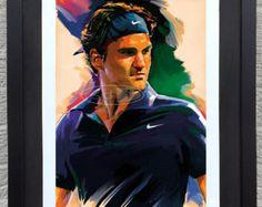 Roger Federer  A3 Art Prints of the Original Watercolors