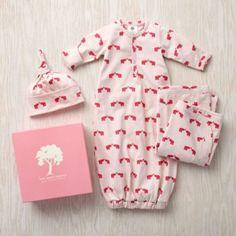 Pink elephants gift set (receiving blanket, sleep sack & hat) from Land of Nod