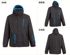 Male winter wind and waterproof ski suit warm down jacket single or double plate