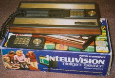 The famous Intellivision.  My son & his friends spent many hours playing this primitive thing!