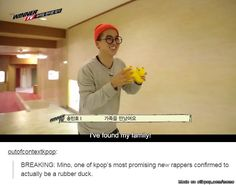 Mino,you're too cute ♥ .