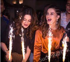 Aiman And Minal Khan Birthday Celebration Pictures, celebrities, pakistani actress, aiman khan, minal khan, birthday pictures of twinnies sisters