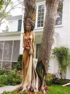 ♡ Stump Tree Sculpture