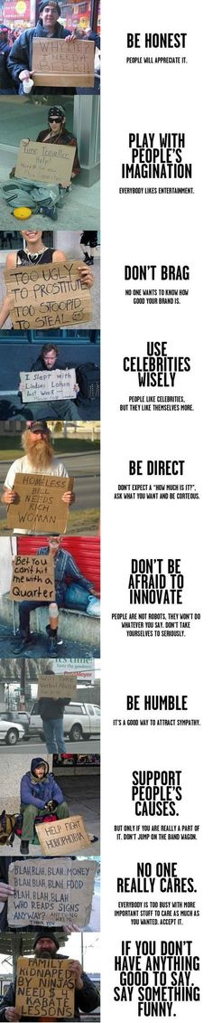 How to be a successful homeless person.