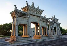 The former Residence of Chen Fang (Meixi Royal Stone Archways Tourist Attraction) is a national key cultural relics protection unit. Stone Archway, Zhuhai, Chen, Attraction, Mansions, House Styles, Building, Home Decor, Mansion Houses