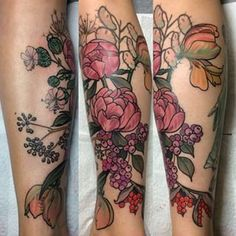 This floral work of art. | 24 Beautiful Australian Tattoos You Definitely Wouldn't Regret
