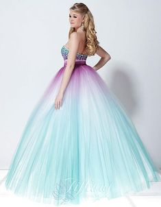 Amazing neon blue and green quince dress :p | Quince dresses ...
