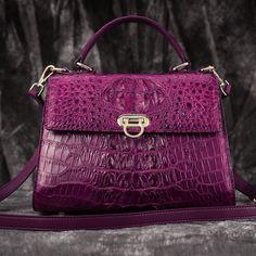 ab574cad05 Crocodile handbag Crocodile Handbags, Luggage Backpack, Purple Purse, Leather  Purses, Leather Handbags
