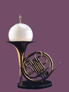I need this French horn lamp for my office!!!!!! Better yet... who can make this for me???