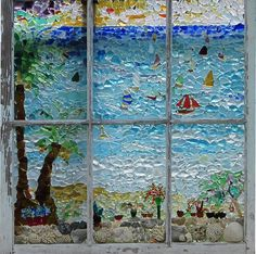 Sea glass window!