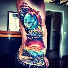 galaxy tattoo- side tattoo #tattoo #tat #ink #sidetattoo