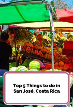 Top 5 Things to do in San José, Costa Rica. More than likely you will fly into or out of San José, Costa Rica and while the city is full of noise, grit and grime it's worth a look around the city if you have the time.