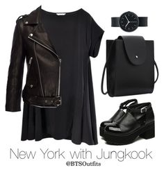 New York with Jungkook by btsoutfits on Polyvore featuring polyvore fashion style Anine Bing Uniform Wares clothing