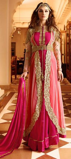 Online store of designer georgette long anarkali gown suit designed with heavy embroidery and stone work. Long Anarkali Gown, Anarkali Suits, Anarkali Churidar, Punjabi Suits, Salwar Suits Party Wear, Party Wear Sarees, Designer Salwar Suits, Designer Anarkali, Designer Dresses