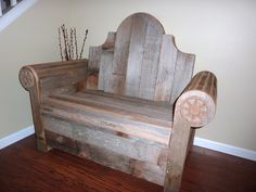Made out of old fence pickets!  I want this for the office of our fence co.!!