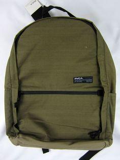 RVCA artist network skate Laptop back pack premium olive book bag  #RVCA #Backpack