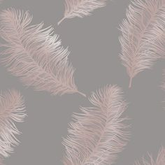 Statement Grey Feather Metallic Gold Effect Wallpaper | Departments | DIY at B&Q