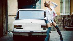 Model stocking cars in Plovdiv City - WallSheets