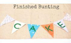 DIY Tutorial: Cake Bunting
