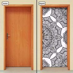 adesivo decorativo de porta - mandala - 298mlpt