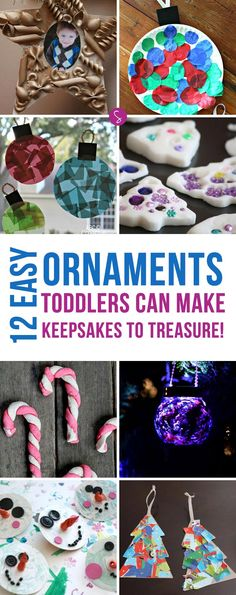 These Christmas ornaments are adorable and simple enough for toddlers to make as keepsakes for years to come!