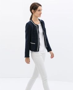 ZARA - WOMAN - COMBINED TWEED JACKET