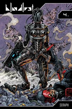 A Bloodlust - Seraph című képregényünk végleges borítója Comic Book Covers, Comic Books, Cyberpunk Clothes, Fantasy Comics, Deviantart, Movie Posters, Film Poster, Cartoons, Comics