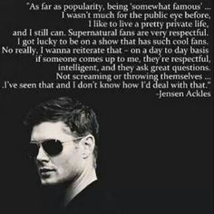 Supernatural - The respectful fandom :) LOL More like the lady in the streets but the freak on the Internet-fandom^.^