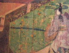 12th-century Tale of Genji Painting Scroll (Genji monogatari emaki), which was created over a century after Murasaki Shikibu's literary work, but is one of the oldest surviving illustrations of it.