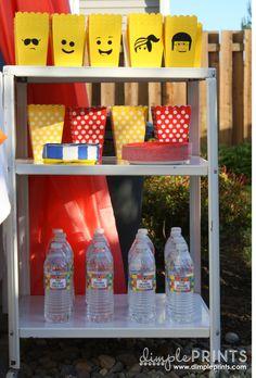 Lego popcorn holders