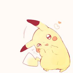 get in my arms? So I can hug you? Pikachu Pikachu, Pikachu Tumblr, First Pokemon, Pokemon Fan, Kawaii Drawings, Cute Drawings, Kawaii Anime, Pikachu Drawing, Cute Pokemon Wallpaper