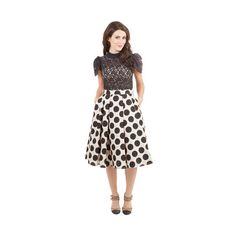 ModCloth Rockabilly Long Full Retro Revolution Skirt