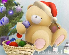 BY Maria Elena Lopez Merry Christmas And Happy New Year, Christmas Wishes, Christmas Cards, Teddy Bear Pictures, Bear Pics, Cold Porcelain Tutorial, Hello Kitty Christmas, Blue Nose Friends, Cute Teddy Bears