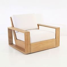 A perfectly modern and sophisticated Outdoor Club Chair. Clean angular lines and a decidedly organic feel to the styling on this Outdoor Lounge Chair.