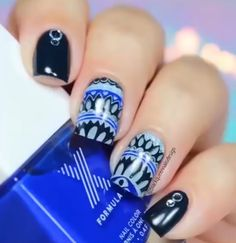 Manicure with reverse stamping hack