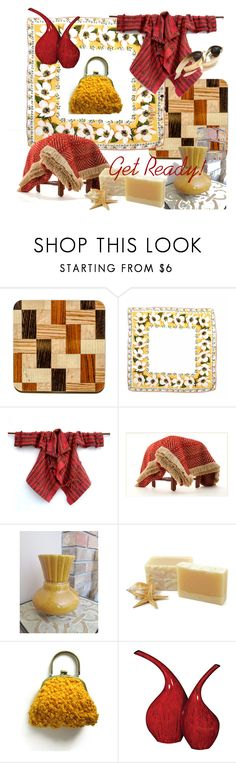 """Get Ready!"" by plumsandhoneyvintage ❤ liked on Polyvore featuring interior, interiors, interior design, home, home decor, interior decorating, Howard Elliott, contemporary and vintage"