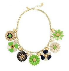 WHOLESALE FASHION JEWELRY ACCESSORIES NEW DESIGN LADY ACRYLIC MIXED GREEN FLOWER BIB STATEMENT NECKLACE COLLAR